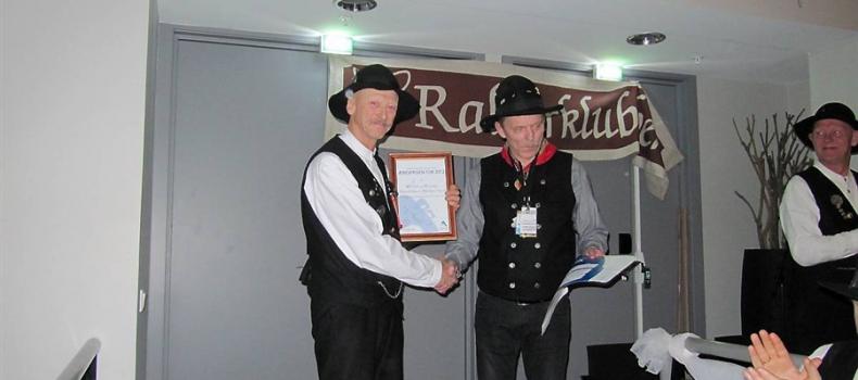 Rallarklubben tildelt stor ærespris