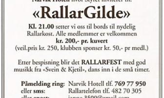 RallarGilde 2013, medlemmenes egen middag